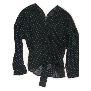 CURRENT AIR Textured Polka Dot Blouse
